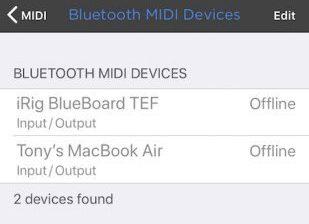 MIDI Bluetooth